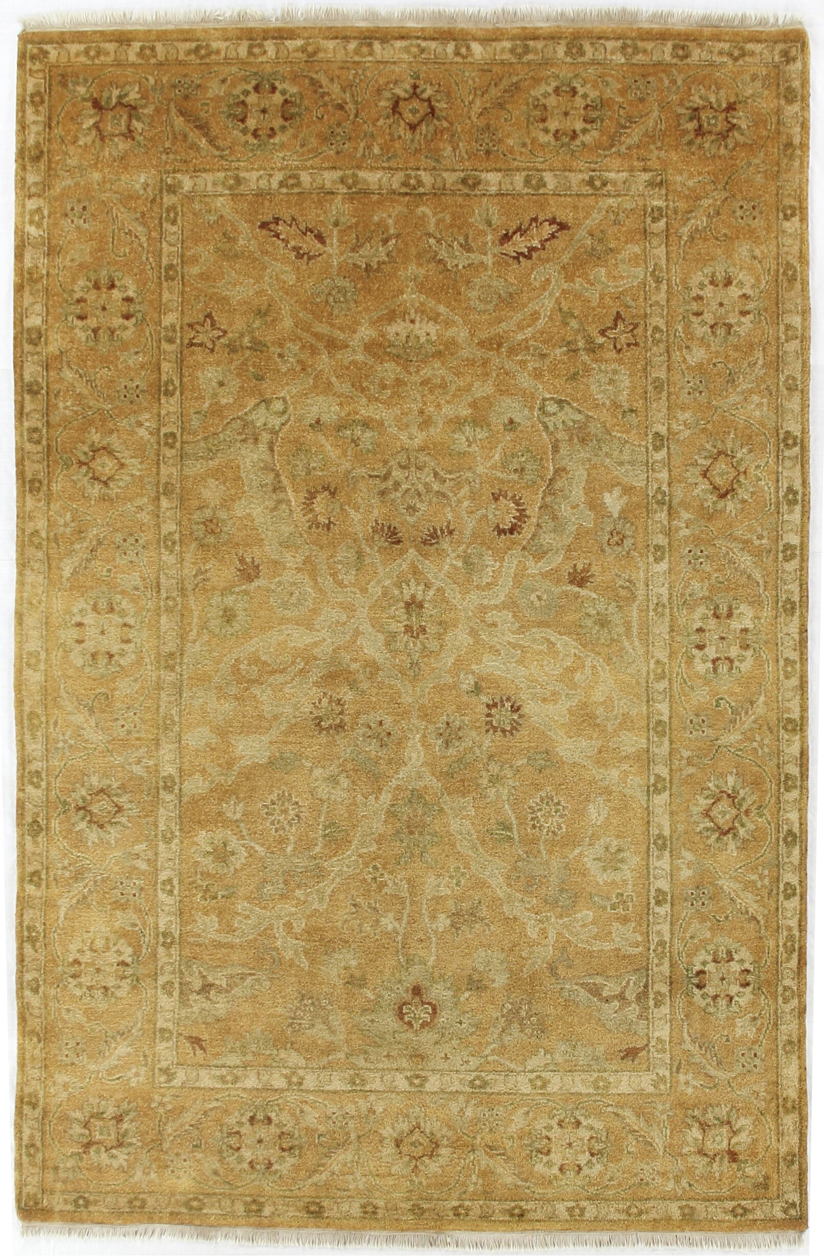 Exquisite Rugs Anatolian Oushak Oriental Hand Knotted Wool Gold Area Rug Perigold