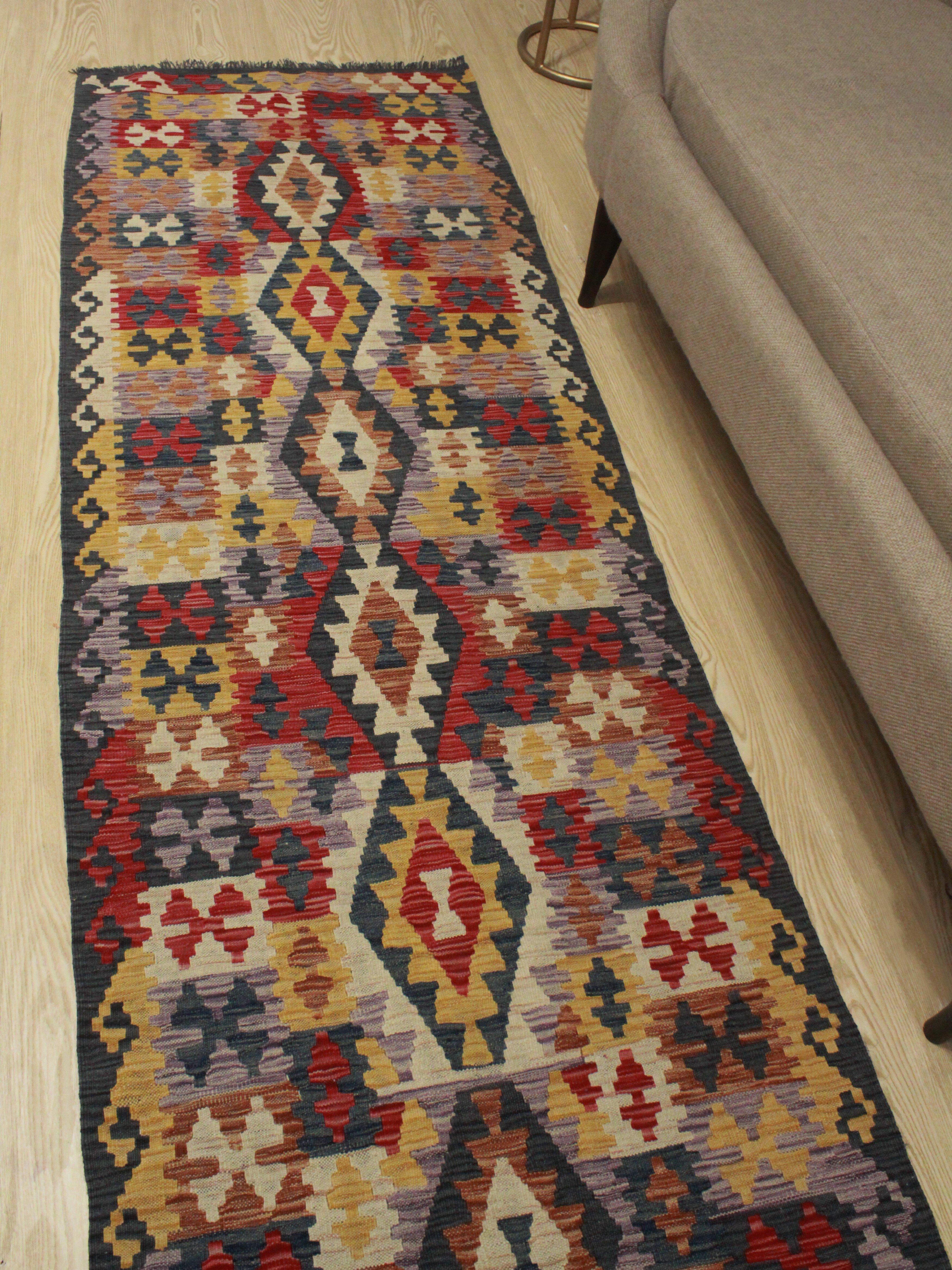 Foundry Select Runner Hults Southwestern Hand Woven Wool Brown Orange Yellow Area Rug Wayfair