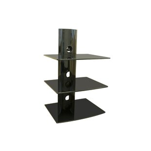 Triple Glass DVD/DVR/Component Wall Mount Shelf