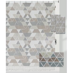 Briones Triangles 100% Cotton Shower Curtain