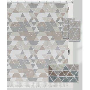 Briones Triangles 100% Cotton Shower Curtain