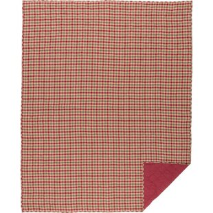 Winston Porter Fossett Plaid Single Reversible Natural Holiday Quilt