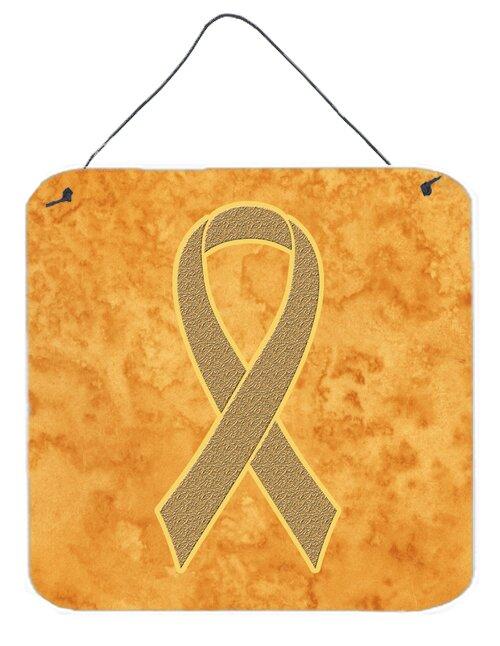 Carolines Treasures Peach Ribbon For Uterine Cancer Awareness By
