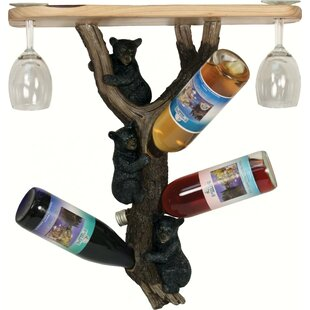 Shoreview Bears 3 Hanging Wine Bottle Rac..