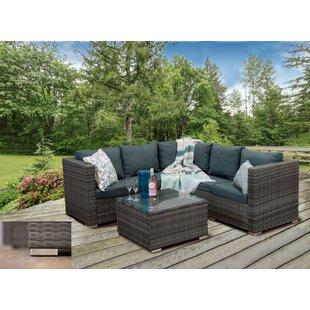 Rudra 4 Seater Rattan Corner Sofa Set By Sol 72 Outdoor