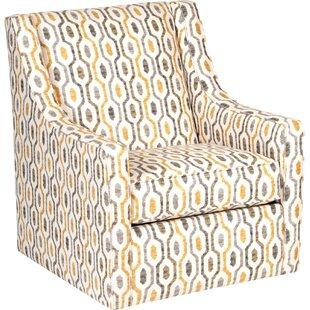 Latitude Run Adriel Modern Linen Swivel Armchair