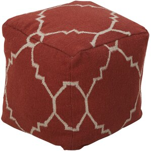 Petrie Quatrefoil Pouf Ottoman by Darby Home Co