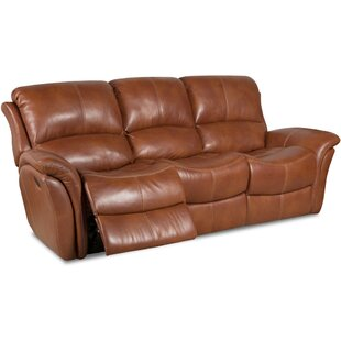 Shop Czapla Leather Reclining Sofa by Orren Ellis