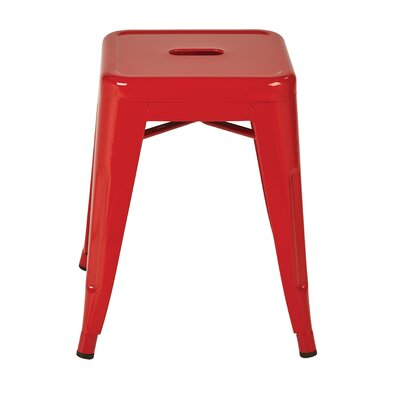 "Blaney 18"" Bar Stool Color: Red by Brayden Studio"