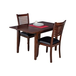 Alcott Hill Assante 3 Piece Solid Wood Dining Set