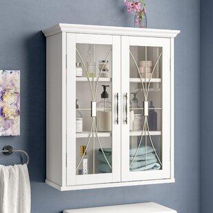 Glass Doors Wall Mounted Cabinet Wayfair