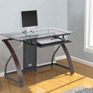 Hille Glass Computer Desk by Symple Stuff