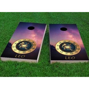 Custom Cornhole Boards Zodiac Stars Leo Themed Cornhole Game (Set of 2)
