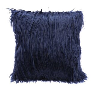 Hollowell Faux Fur Throw Pillow