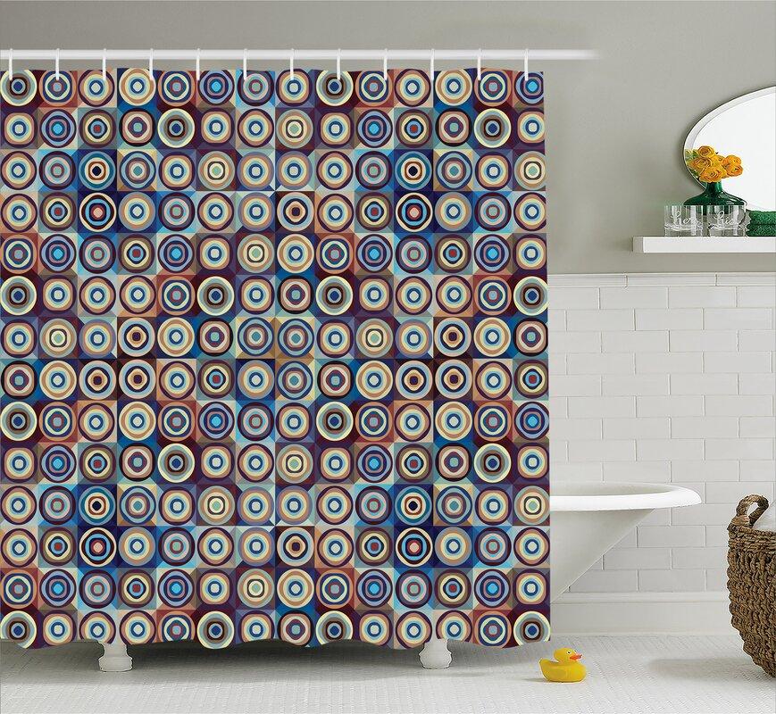 Ebern Designs Burkett Ring Formed Circles Shower Curtain & Reviews ...