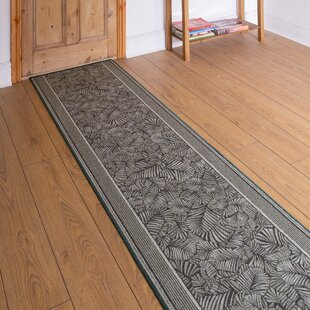 Almond Looped/Hooked Green Hallway Runner Rug By Rosalind Wheeler