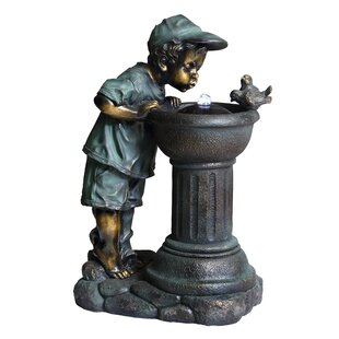 Beckett Ceramic Sharing the Water Fountain with LED Light