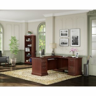 Bennington L-shaped Desk Office Suite by Kathy Ireland Office by Bush