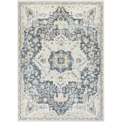 Bungalow Roseartic Oriental Navy Ivory Area Rug Bungalow Rose Rug Size Rectangle 7 10 X 10 3 Dailymail