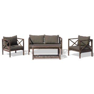 Nemeth Outdoor 4 Piece Sofa Seating Group with Cushions
