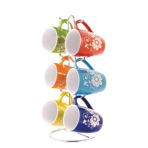 6 Piece Mug Set with Stand