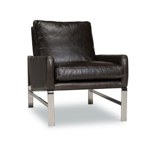 Skylar Leather Club Chair by Brayden Studio