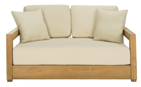Lakeland Teak Loveseat with Cushions | Joss & Main