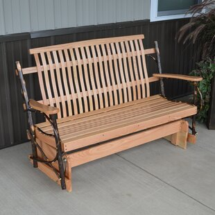 Valeria Hickory Porch Glider Bench