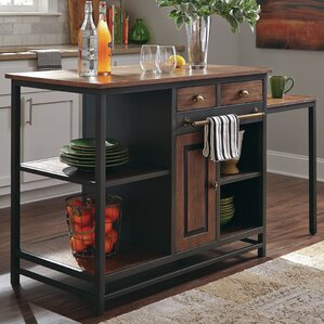 Kitchen Island with Wood Top by Donny Osmond Home