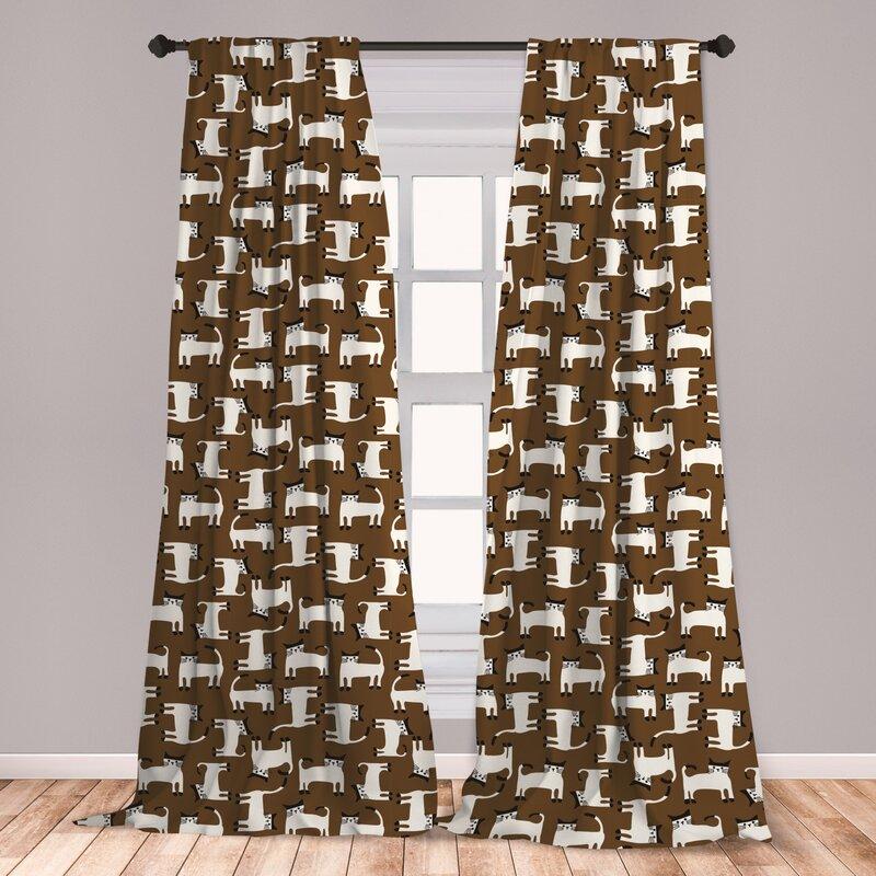 East Urban Home Kittens Room Darkening Rod Pocket Curtain Panels Wayfair
