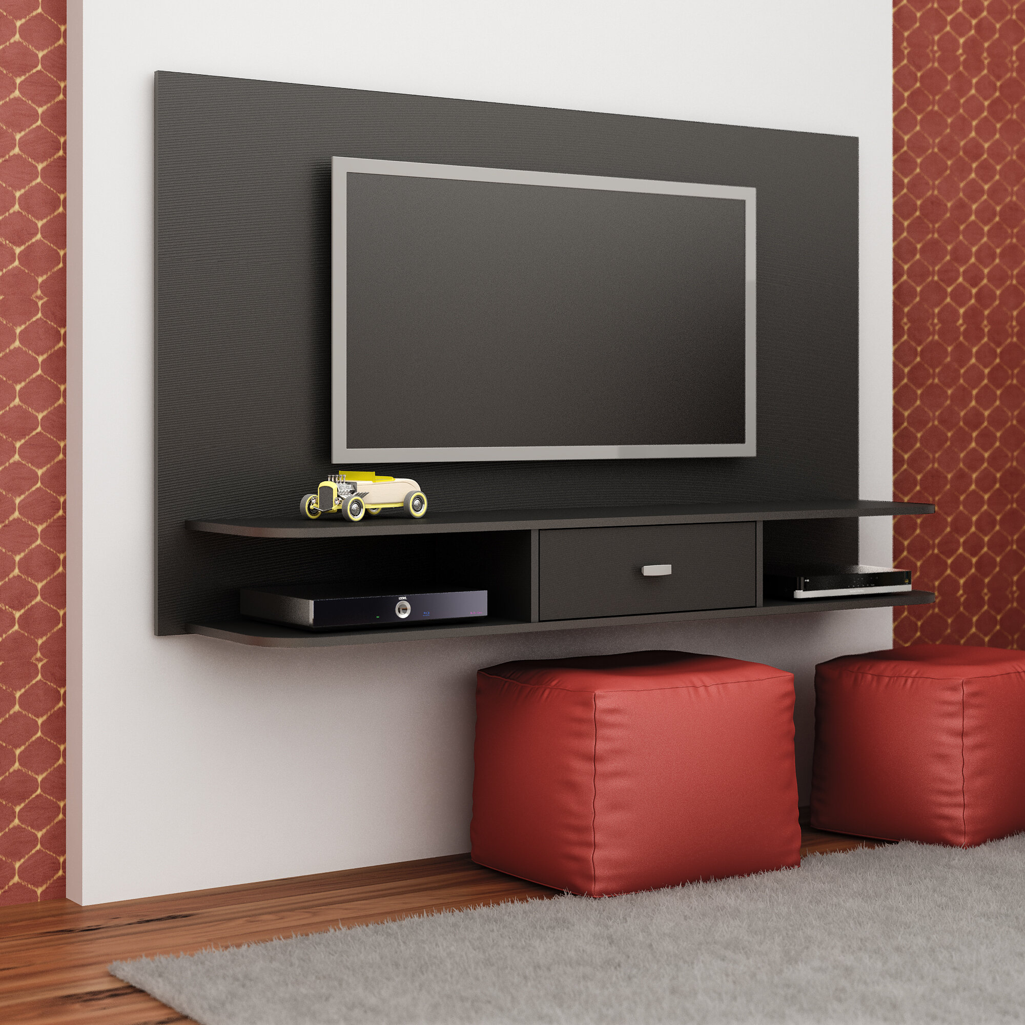 Zipcode Design Adelaida Floating Tv Stand For Tvs Up To 55 Reviews Wayfair