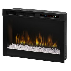 Firebox Landscape Front Mount Glass Media Electric Fireplace by Dimplex