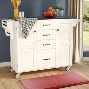 Adelle-a-Cart Kitchen Island with Granite Top
