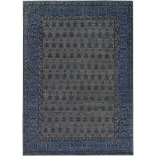 Purchase Blair Hand-Knotted Wool Black/Ink Area Rug ByBloomsbury Market