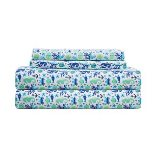 Folden Print Microfiber Percale Sheet Set