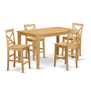 Smyrna 5 Piece Counter Height Dining Set by Charlton Home Cool