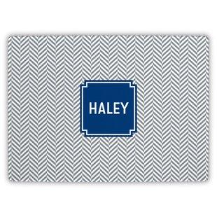 Herringbone Block Personalized Cutting Board ByBoatman Geller