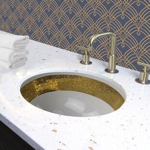 Check Prices Regatta Ceramic Oval Undermount Bathroom Sink with Overflow ByNantucket Sinks
