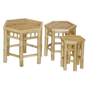 Bay Isle Home Porter 3 Piece Bamboo Stool Set
