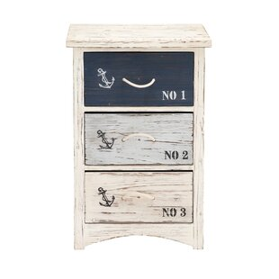 Read Reviews Waterview Nautica 3 Drawer Chest ByBeachcrest Home