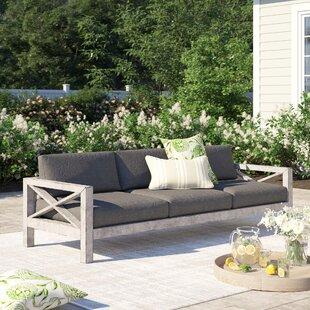 Barden Patio Sofa with Sunbrella Cushions by Laurel Foundry Modern Farmhouse