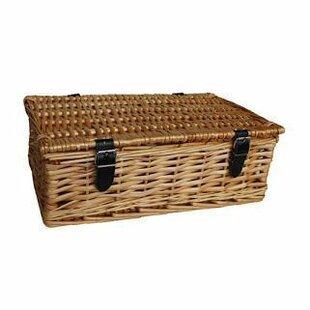 Gift Empty Rectangular Wicker Picnic Basket By Brambly Cottage
