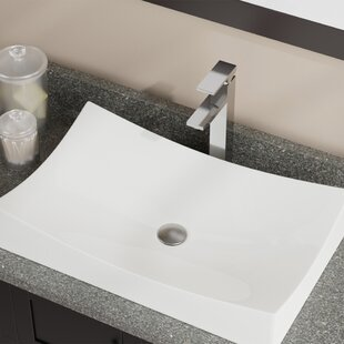 MR Direct Vitreous China Rectangular Vessel Bathroom Sink