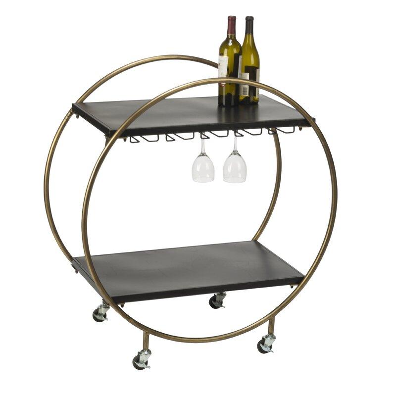 Kiesel Retro Rolling Bar Cart