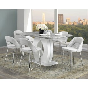 Everly Quinn Kershaw 7 Piece Pub Table Set