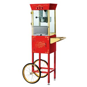 Matinee 8 Oz. Movie Antique Popcorn Machine & Cart