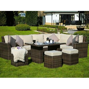 Cates 6 Piece Rattan Sofa Seating Group with Cushions