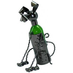 Sitting Dog 1 Bottle Tabletop Wine Rack b..