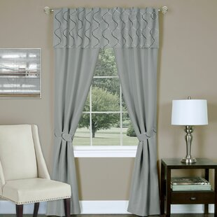 Gillon Solid Color Rod Pocket Curtain Panel (Set of 2) by Charlton Home