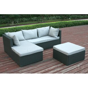 Joanne Garden Patio Sectional with Cushions